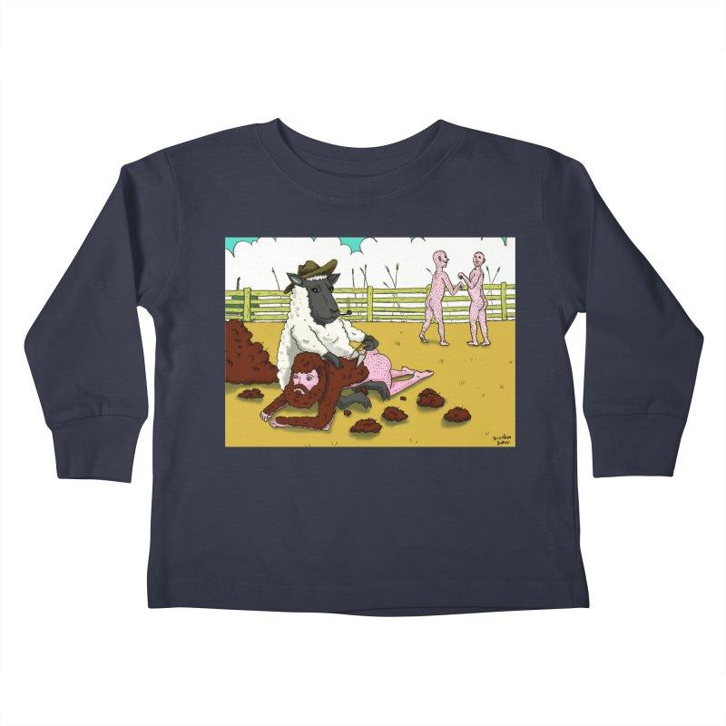 Sheering Sheep Kids Toddler Longsleeve T-Shirt by Brandon's Artist Shop