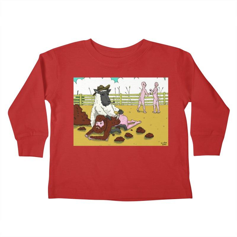 Sheering Sheep Kids Toddler Longsleeve T-Shirt by Baked Goods