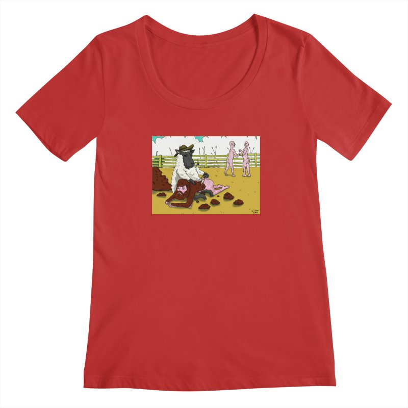 Sheering Sheep Women's Scoopneck by Baked Goods