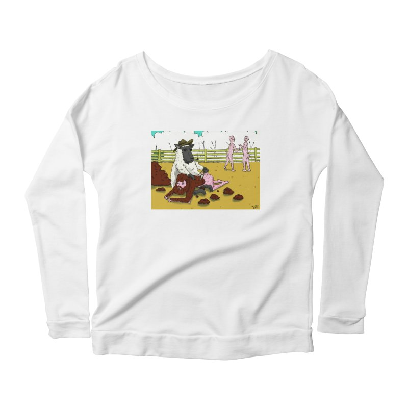 Sheering Sheep Women's Scoop Neck Longsleeve T-Shirt by Baked Goods