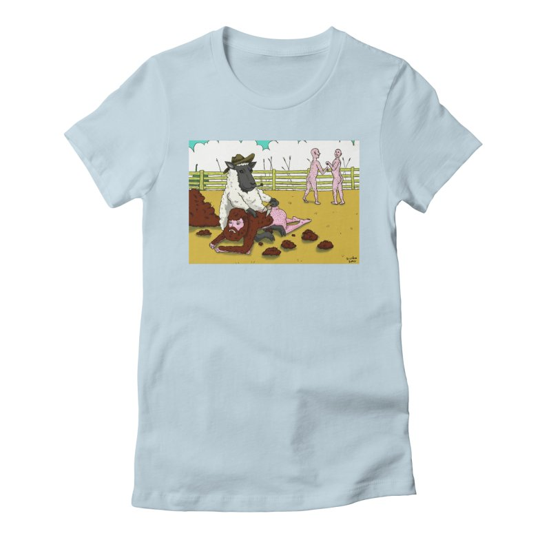 Sheering Sheep Women's Fitted T-Shirt by Baked Goods