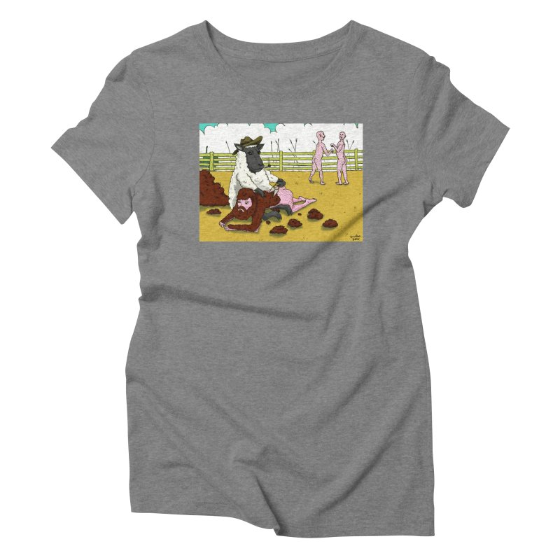 Sheering Sheep Women's Triblend T-shirt by Baked Goods