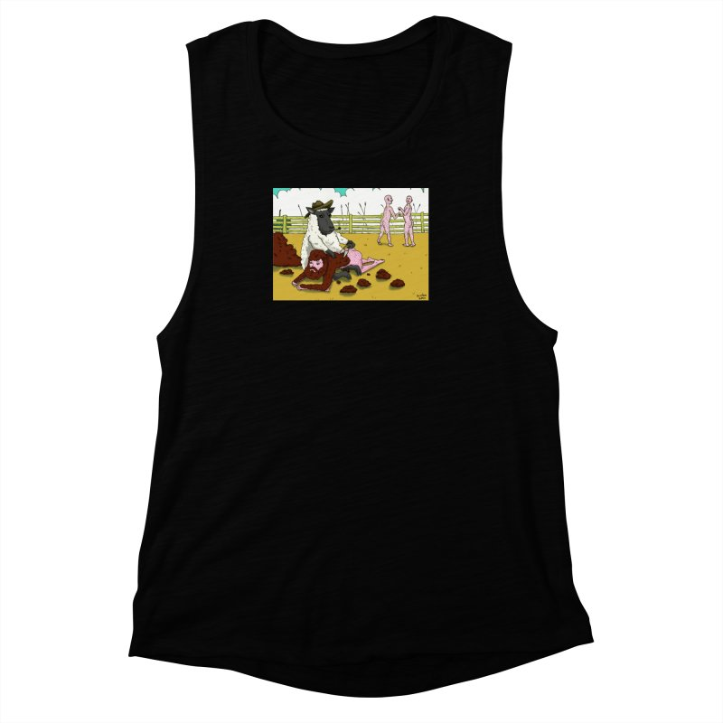 Sheering Sheep Women's Muscle Tank by Brandon's Artist Shop