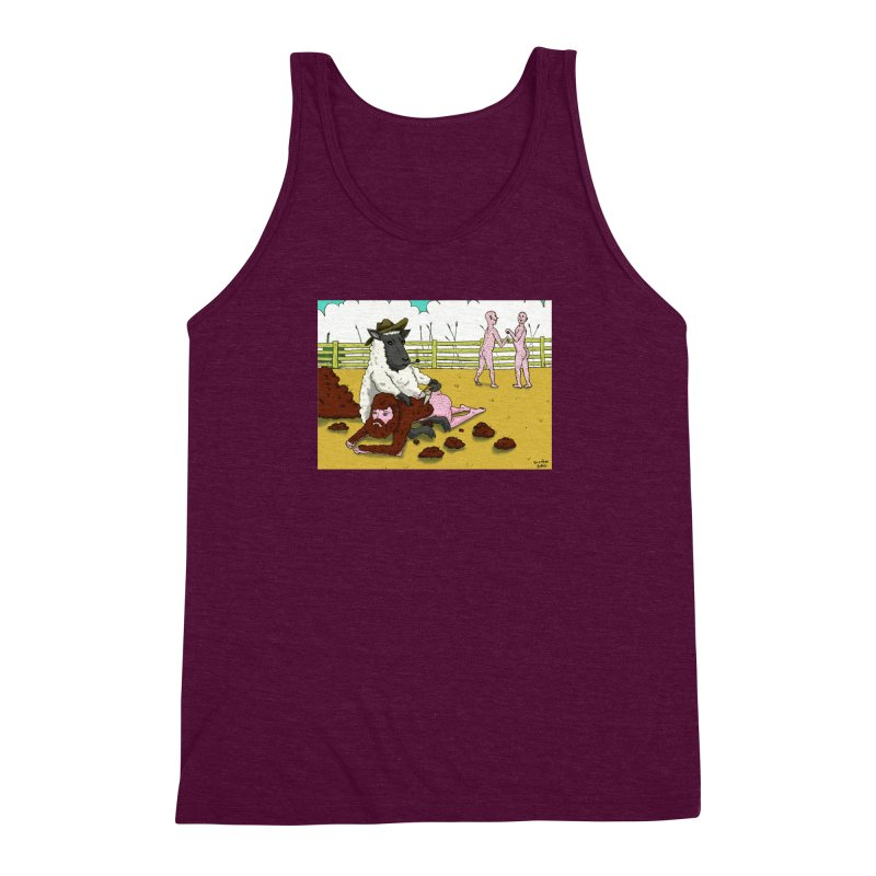 Sheering Sheep Men's Triblend Tank by Baked Goods