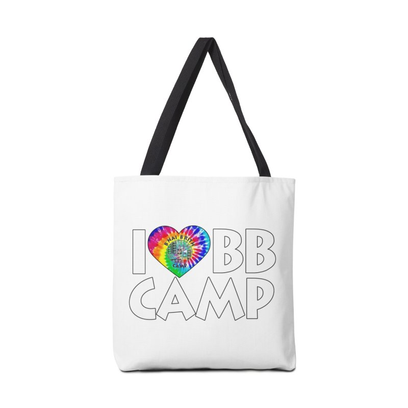 I heart BB Camp Tie-Dye Accessories Tote Bag Bag by BB Camp