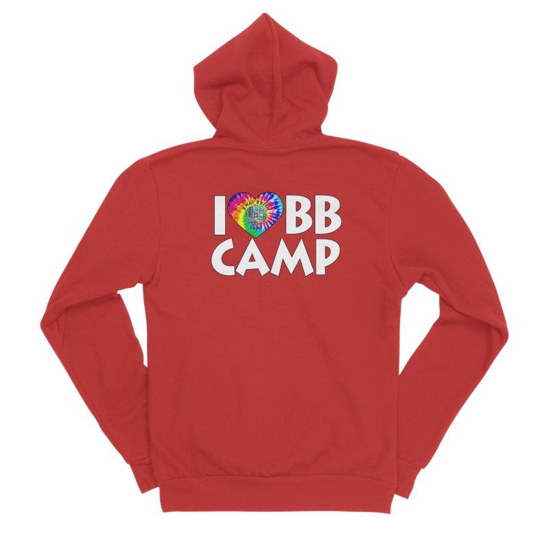 I heart BB Camp Tie-Dye Women's Sponge Fleece Zip-Up Hoody by BB Camp