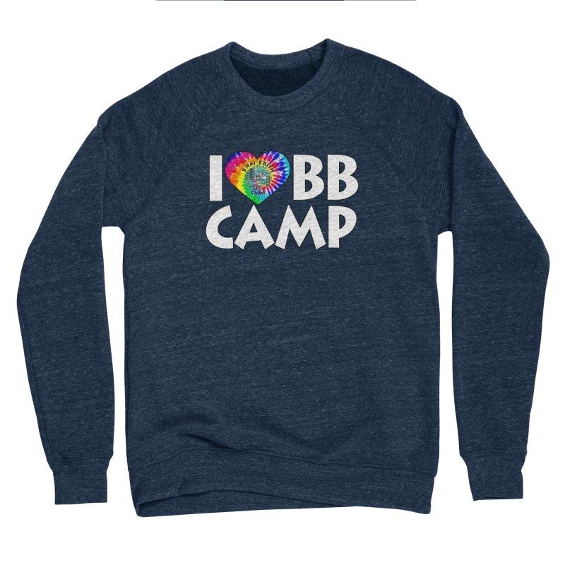 I heart BB Camp Tie-Dye Men's Sponge Fleece Sweatshirt by BB Camp