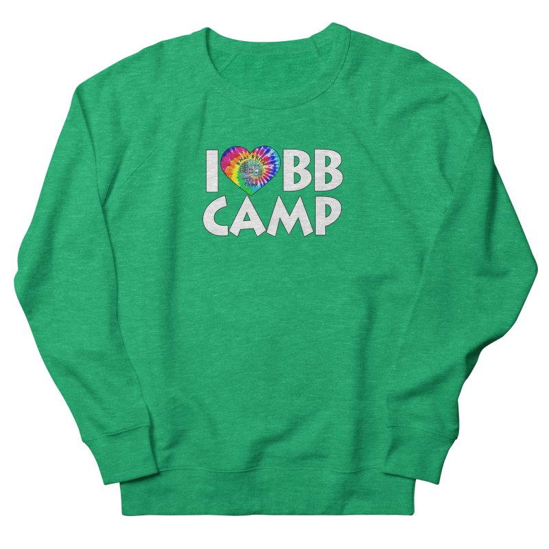 I heart BB Camp Tie-Dye Women's French Terry Sweatshirt by BB Camp