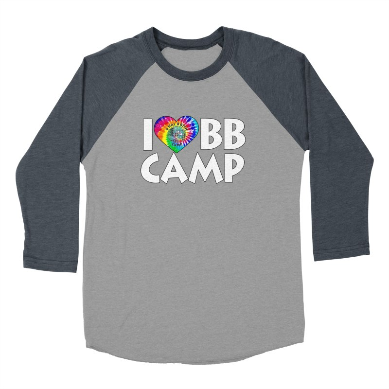 I heart BB Camp Tie-Dye Women's Baseball Triblend Longsleeve T-Shirt by BB Camp