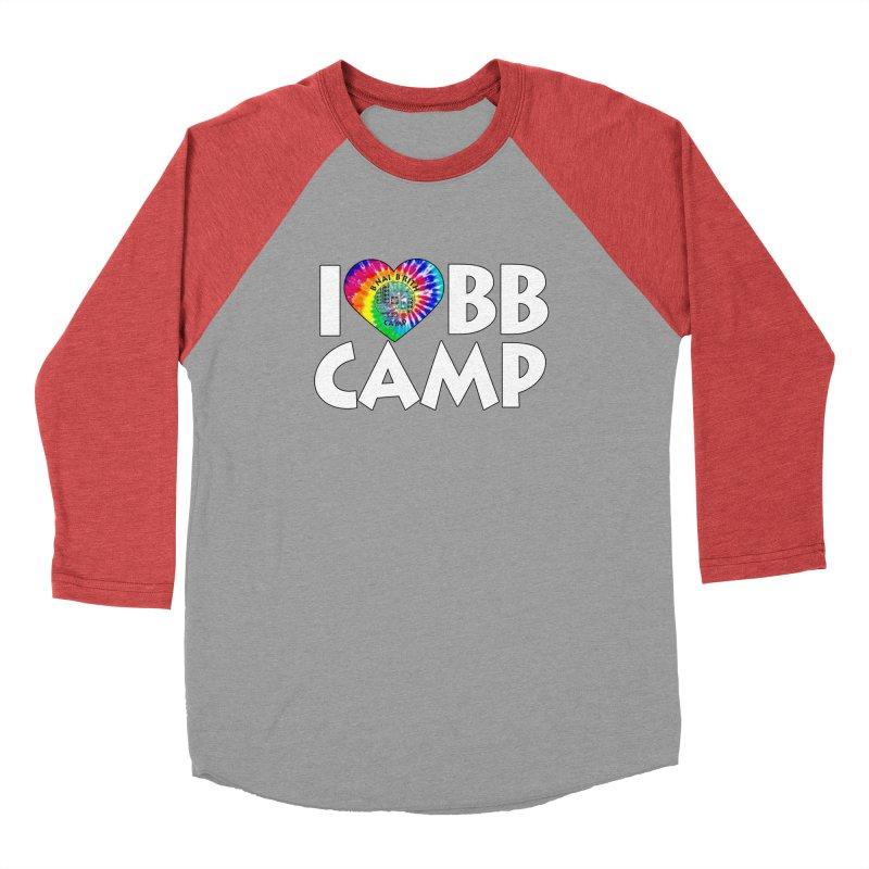 I heart BB Camp Tie-Dye Men's Baseball Triblend Longsleeve T-Shirt by BB Camp