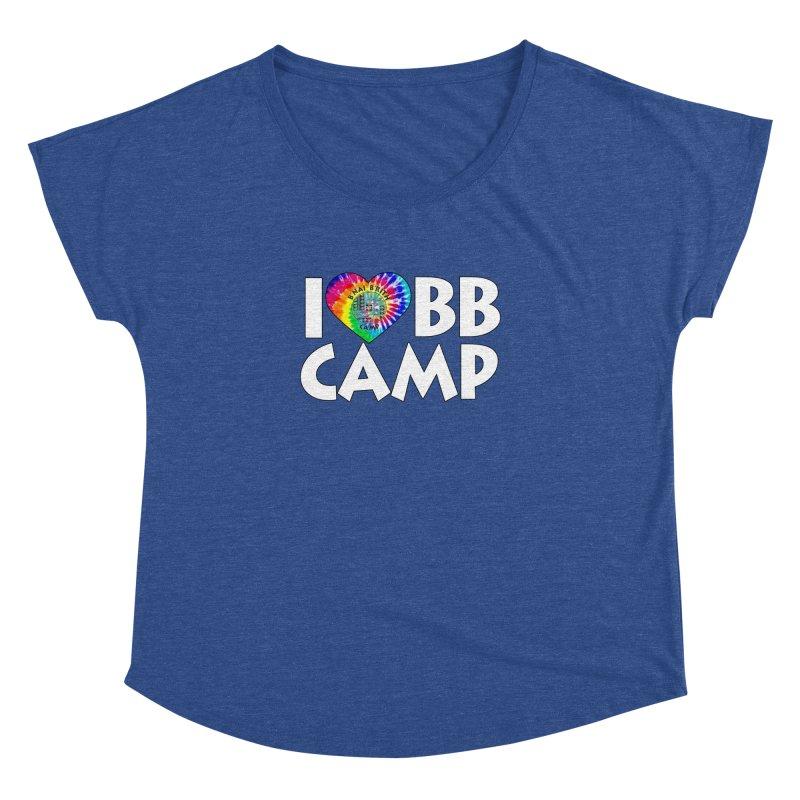 I heart BB Camp Tie-Dye Women's Dolman Scoop Neck by BB Camp