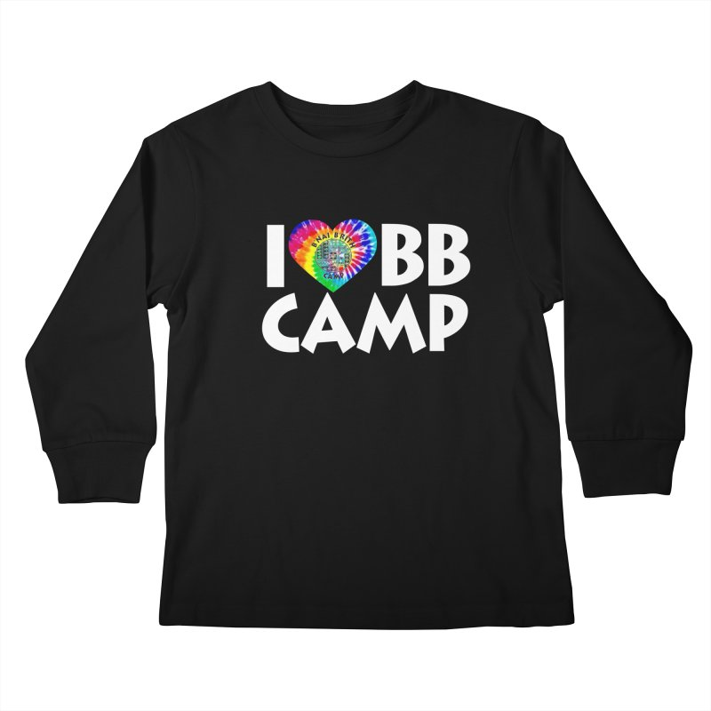 I heart BB Camp Tie-Dye Kids Longsleeve T-Shirt by BB Camp