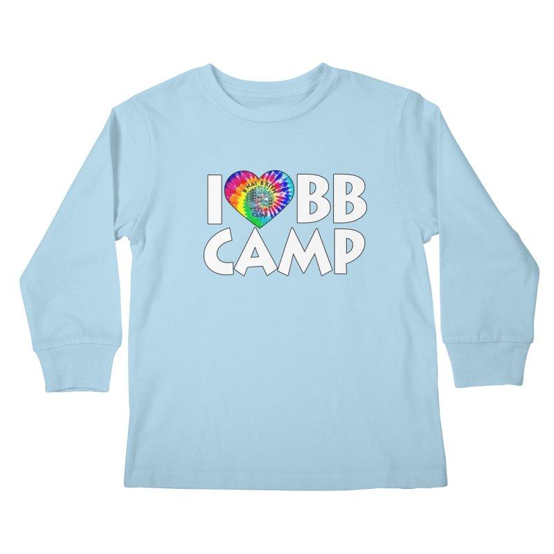 I heart BB Camp Tie-Dye Kids Longsleeve T-Shirt by BB Camp