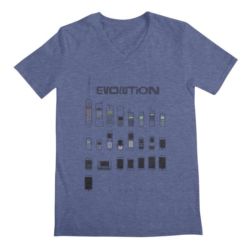 Mobile Evolution Men's V-Neck by bbdreamdesigns's Artist Shop