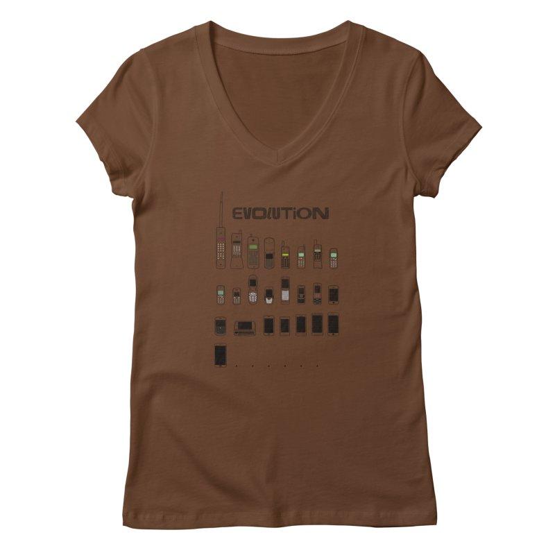 Mobile Evolution Women's V-Neck by bbdreamdesigns's Artist Shop
