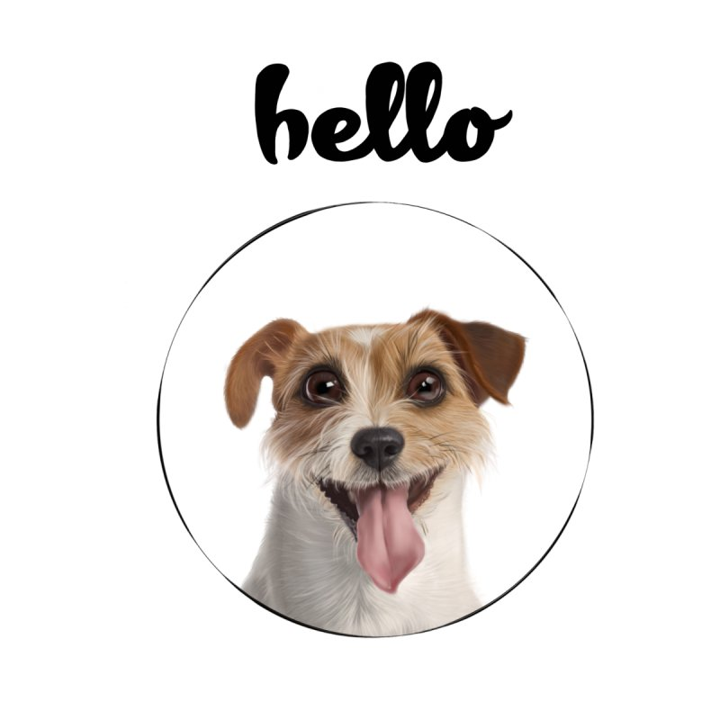 Hello Dog Kids Longsleeve T-Shirt by bbdreamdesigns's Artist Shop