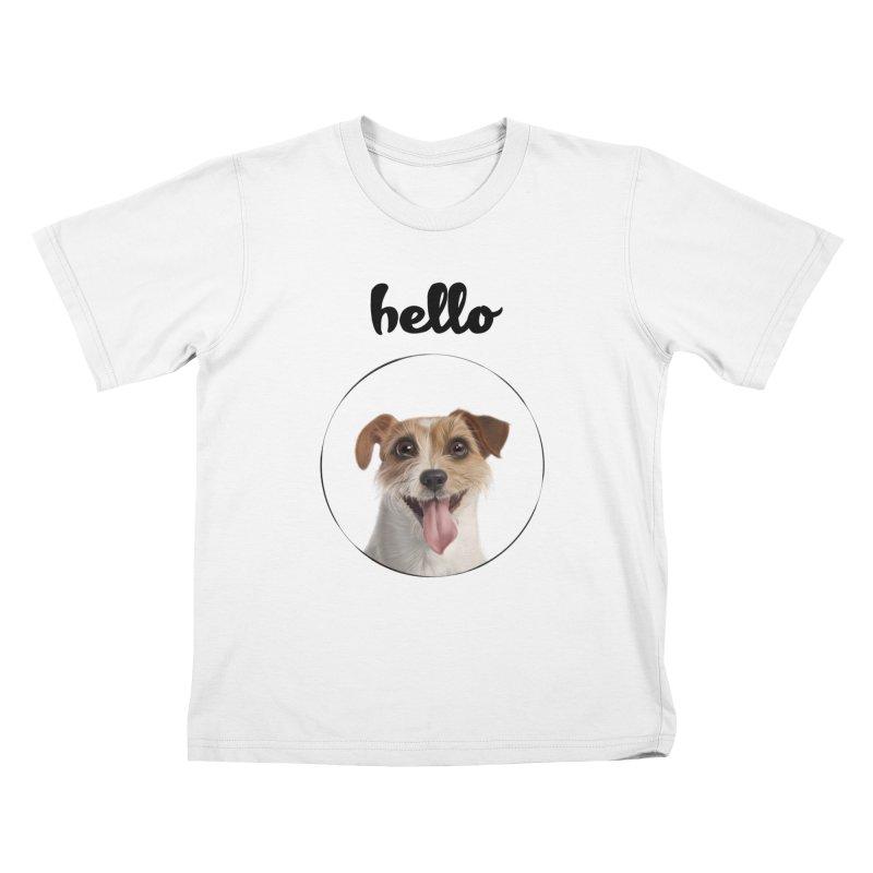 Hello Dog Kids T-Shirt by bbdreamdesigns's Artist Shop