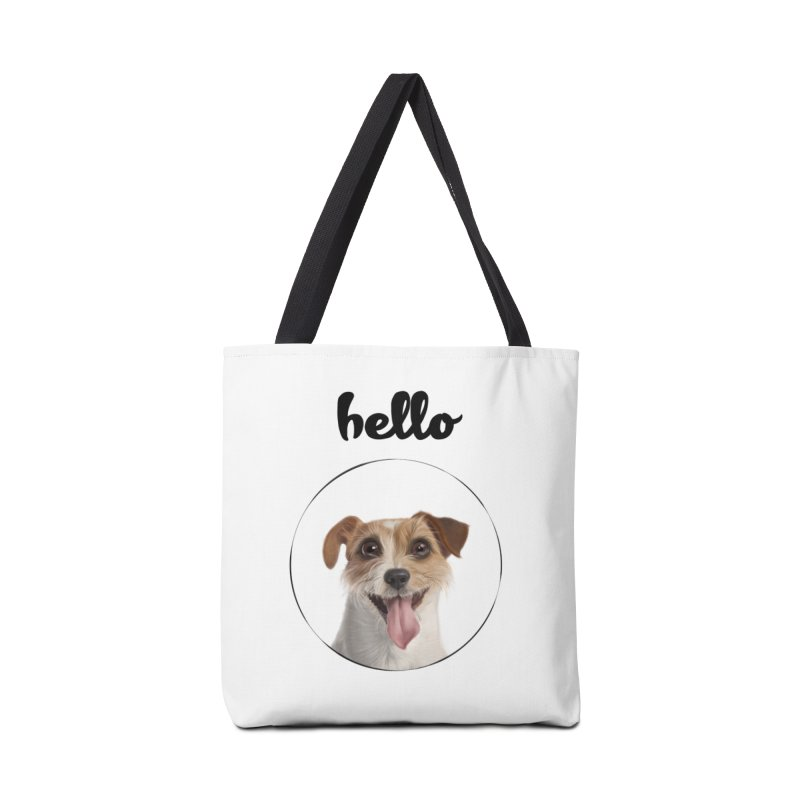 Hello Dog Accessories Tote Bag Bag by bbdreamdesigns's Artist Shop