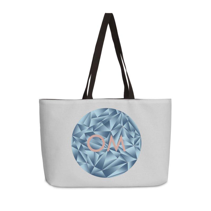Yoga Om Circle Accessories Weekender Bag Bag by bbdreamdesigns's Artist Shop