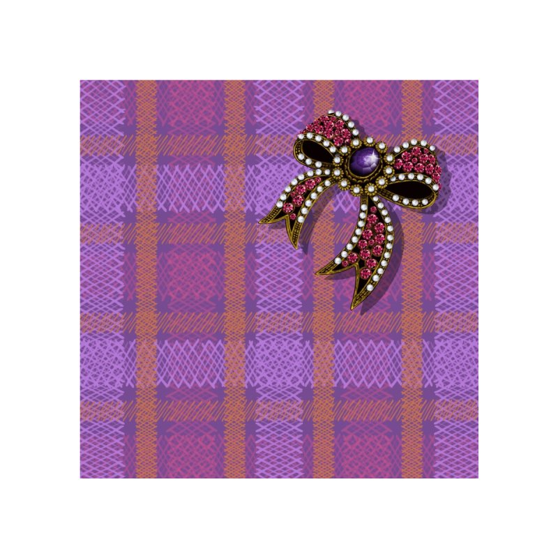 Diamond Bow on Checkered Pink   by bbdreamdesigns's Artist Shop