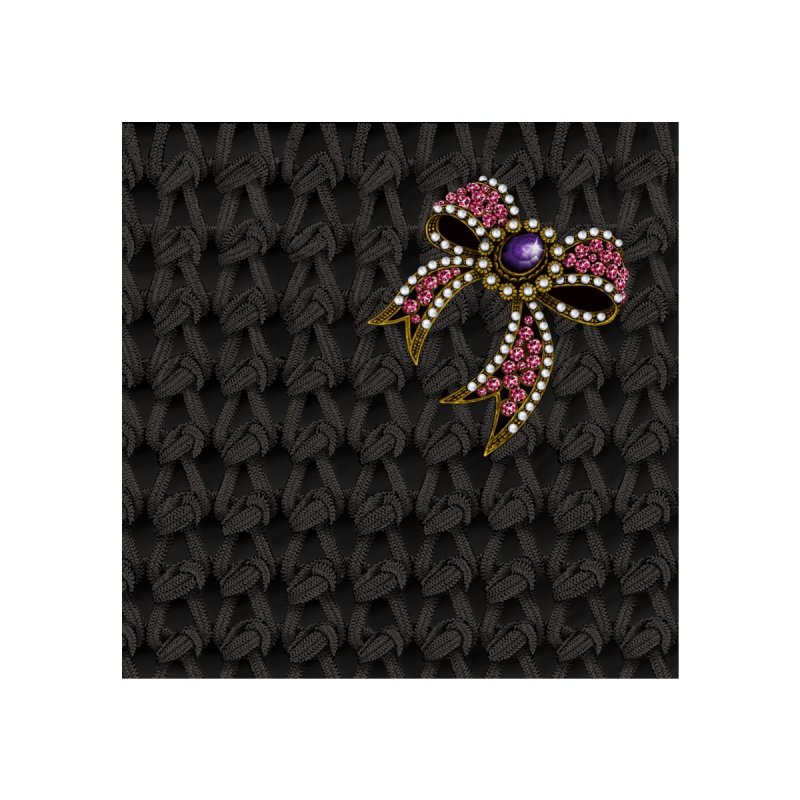 Diamond Bow on Knitted Dark   by bbdreamdesigns's Artist Shop