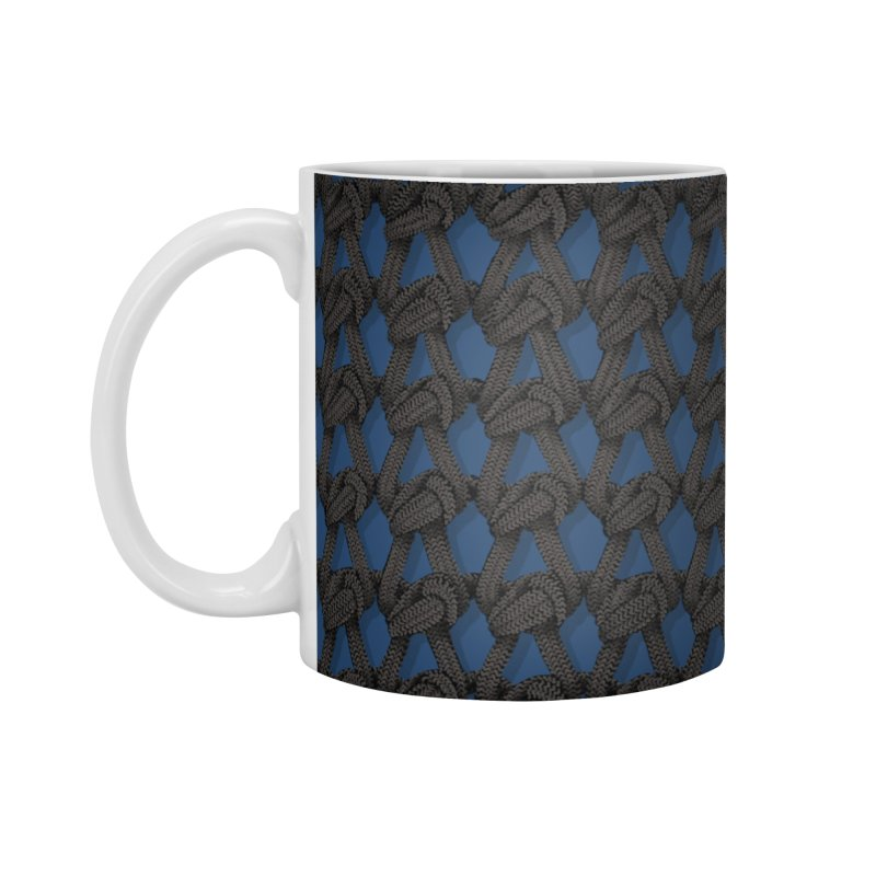 Knitted Blue Accessories Standard Mug by bbdreamdesigns's Artist Shop