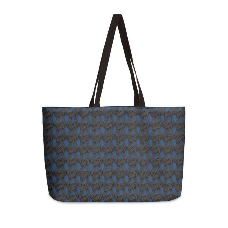 Knitted Blue Accessories Weekender Bag Bag by bbdreamdesigns's Artist Shop