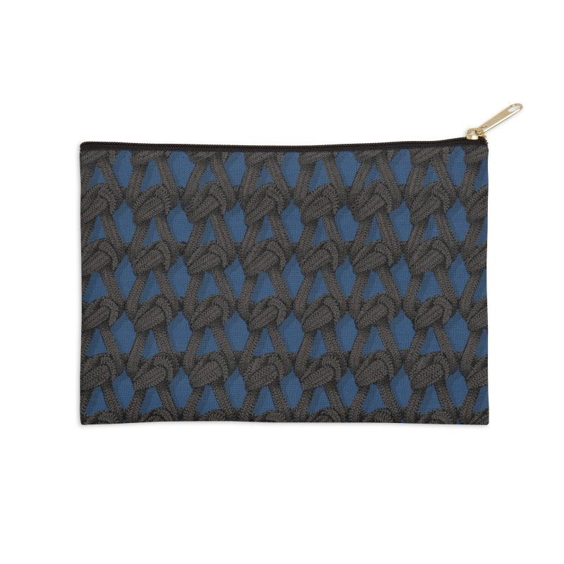 Knitted Blue Accessories Zip Pouch by bbdreamdesigns's Artist Shop