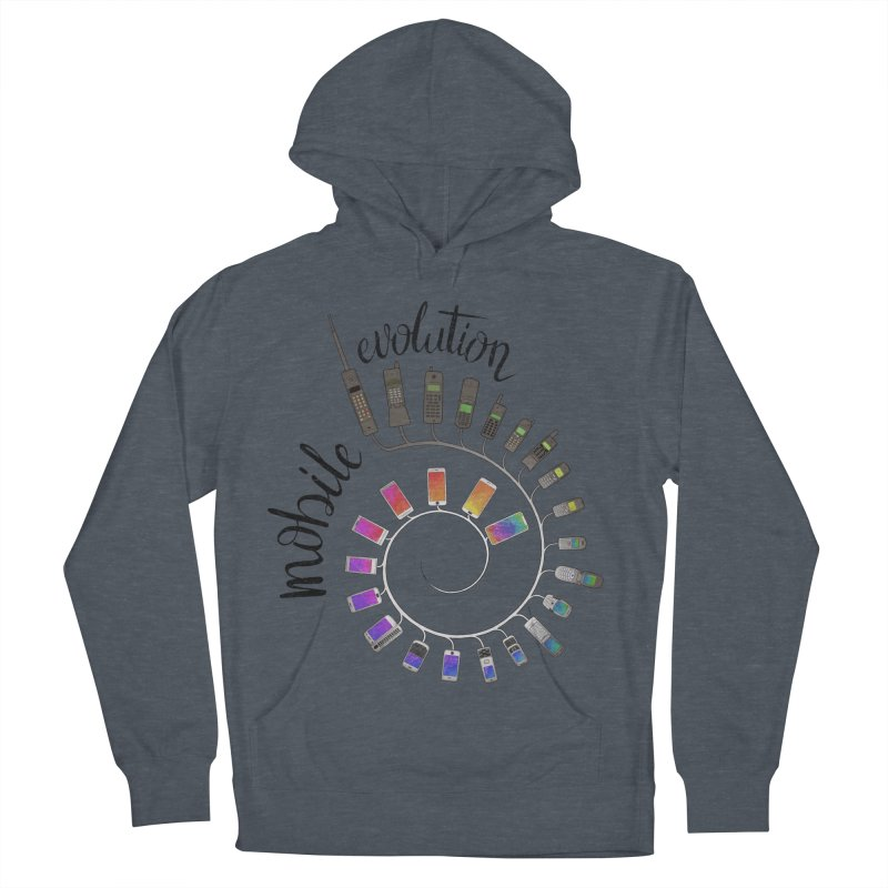 Mobile Evolution Women's French Terry Pullover Hoody by bbdreamdesigns's Artist Shop