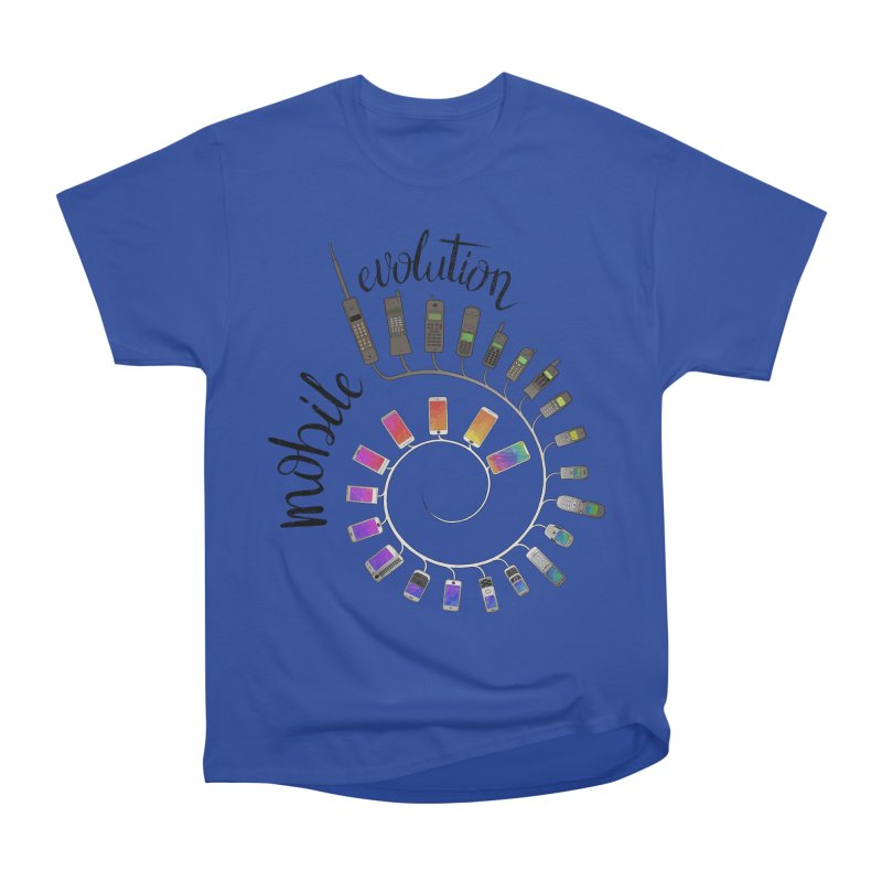 Mobile Evolution Women's Heavyweight Unisex T-Shirt by bbdreamdesigns's Artist Shop