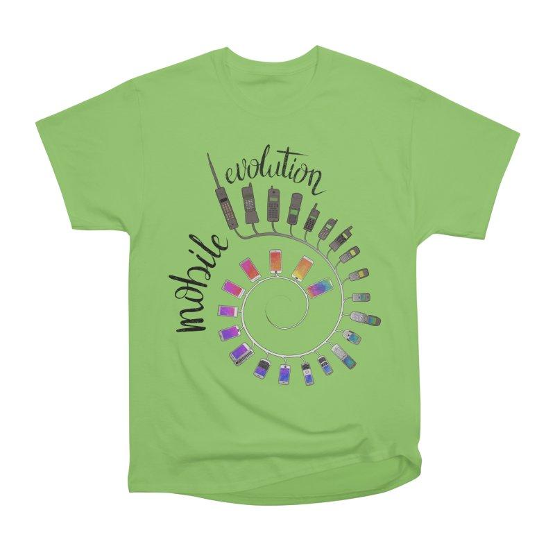 Mobile Evolution Men's Heavyweight T-Shirt by bbdreamdesigns's Artist Shop