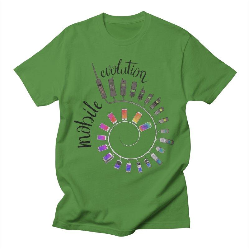 Mobile Evolution Men's T-Shirt by bbdreamdesigns's Artist Shop