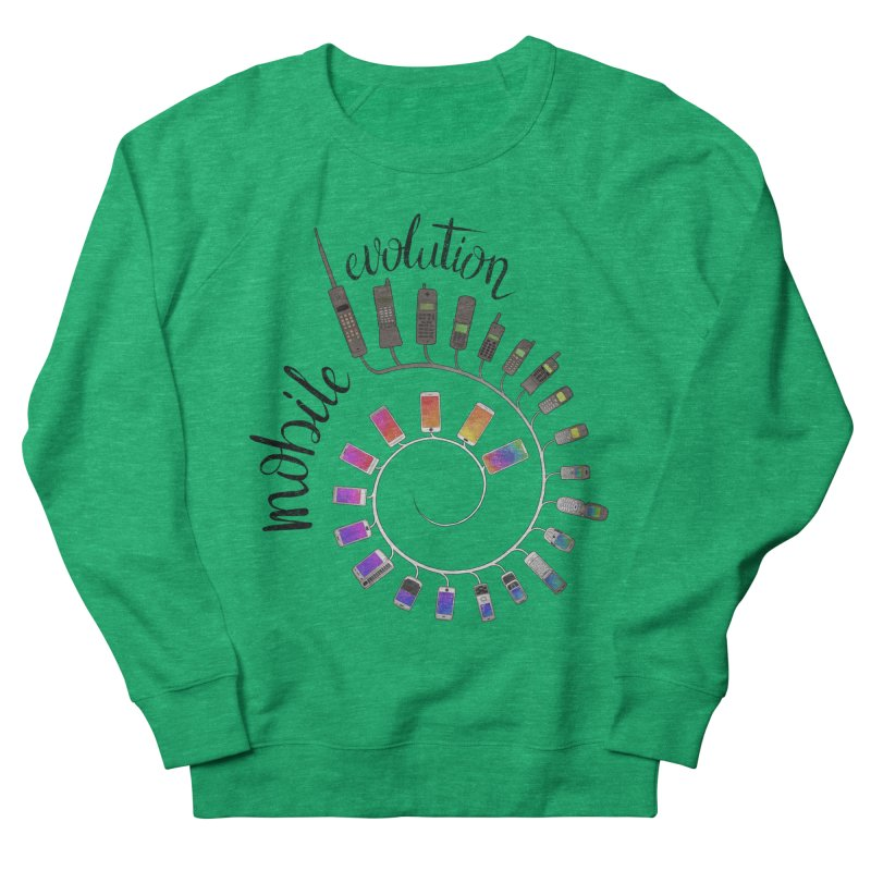 Mobile Evolution Women's French Terry Sweatshirt by bbdreamdesigns's Artist Shop