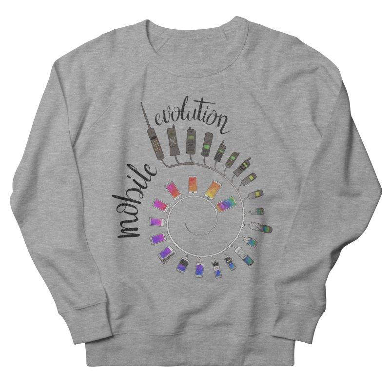 Mobile Evolution Women's Sweatshirt by bbdreamdesigns's Artist Shop