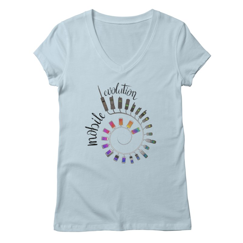 Mobile Evolution Women's V-Neck by bbdreamdesigns's Artist Shop