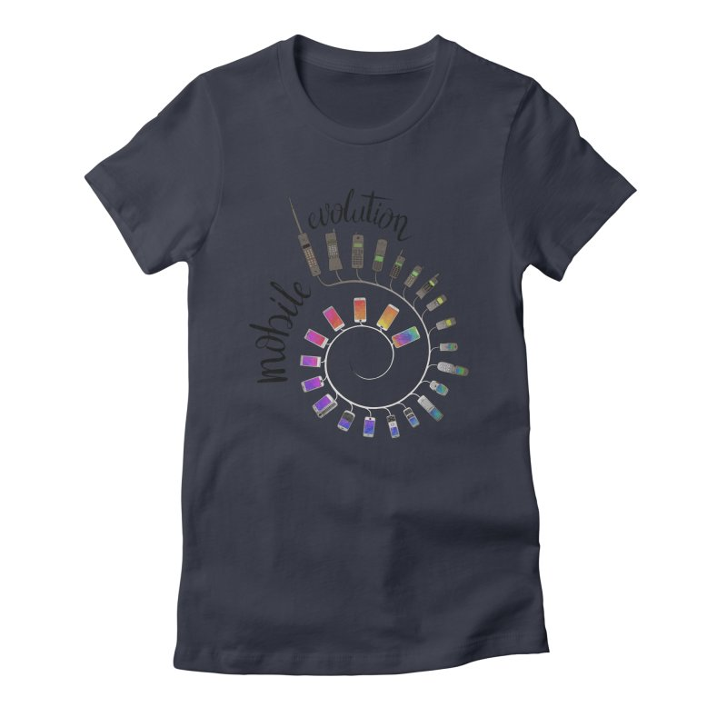 Mobile Evolution Women's Fitted T-Shirt by bbdreamdesigns's Artist Shop