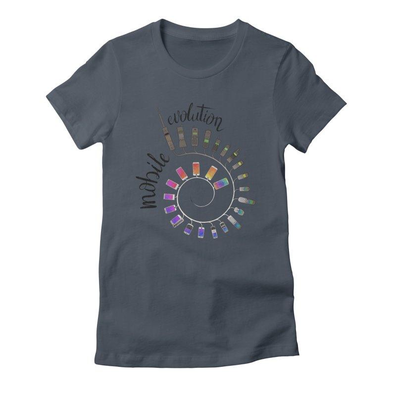 Mobile Evolution Women's T-Shirt by bbdreamdesigns's Artist Shop
