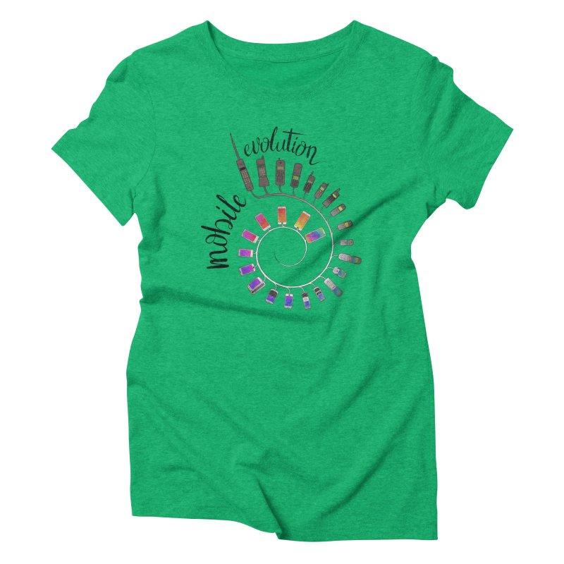 Mobile Evolution Women's Triblend T-Shirt by bbdreamdesigns's Artist Shop