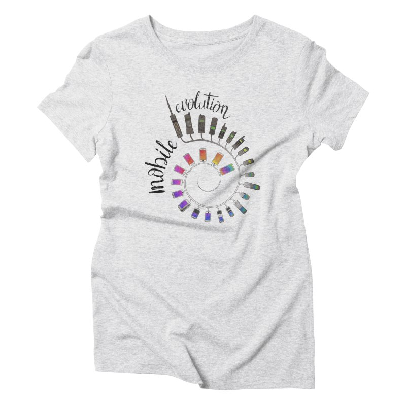 Mobile Evolution Women's Triblend T-Shirt by bbdreamdesigns's Artist Shop