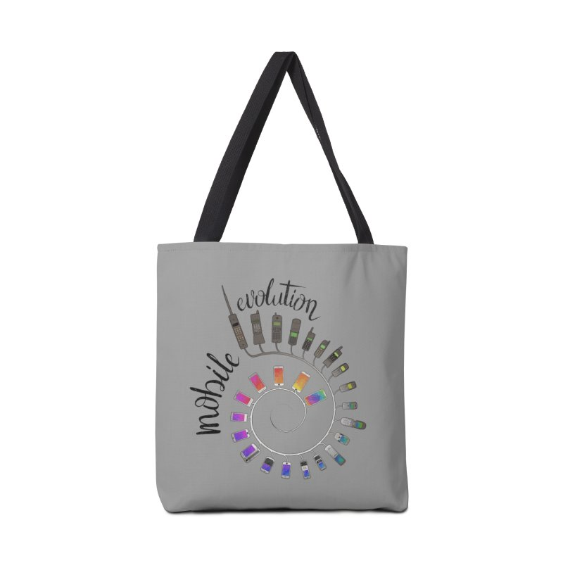 Mobile Evolution Accessories Tote Bag Bag by bbdreamdesigns's Artist Shop