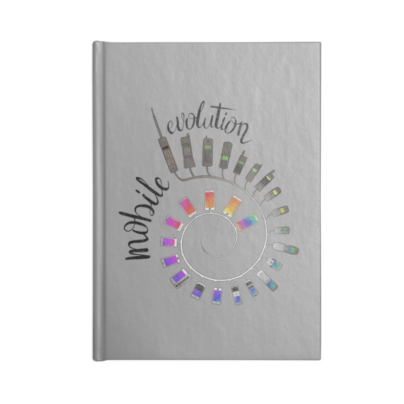 Mobile Evolution Accessories Lined Journal Notebook by bbdreamdesigns's Artist Shop