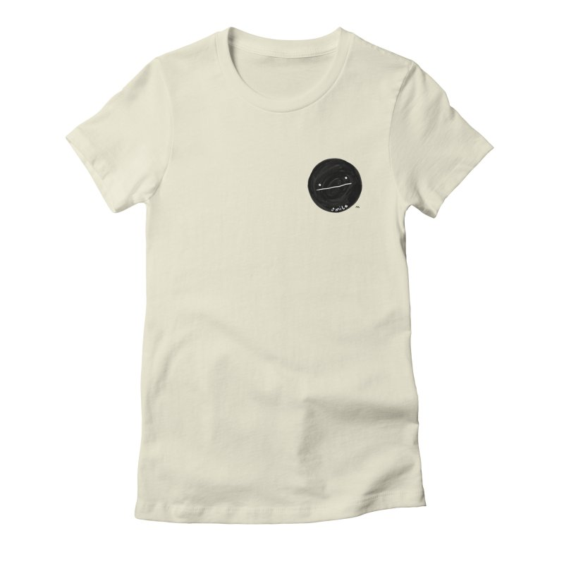 sMiLe Women's Fitted T-Shirt by RACHEL AURIEMMA