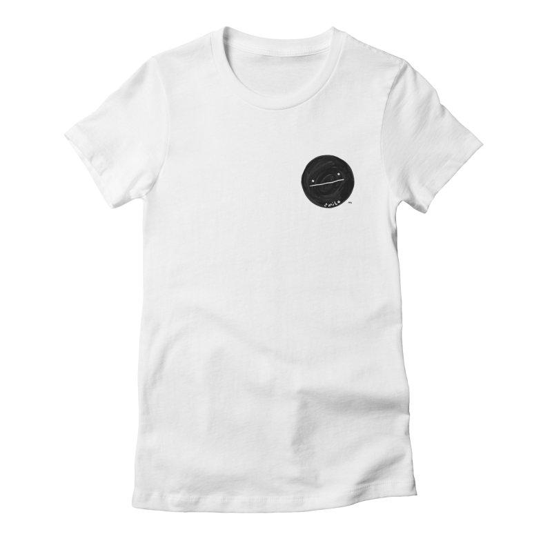 sMiLe Women's Fitted T-Shirt by RACHEL AURIEMMA