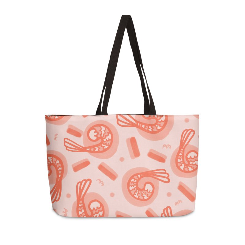 SHRIMP DREAMS in Weekender Bag by BB TAMAGOTCHI