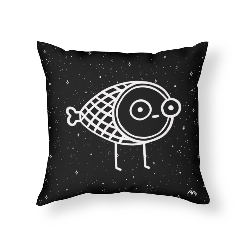 THE BLACK FOREST HAM in Throw Pillow by BB TAMAGOTCHI