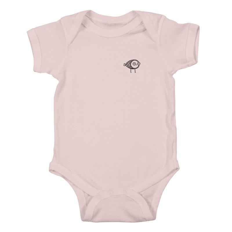 THE MINIMAL HAM Kids Baby Bodysuit by BB TAMAGOTCHI