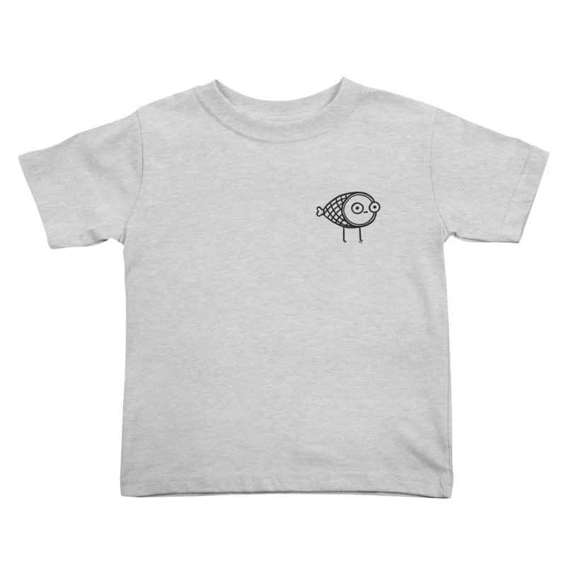THE MINIMAL HAM in Kids Toddler T-Shirt Heather Grey by BB TAMAGOTCHI