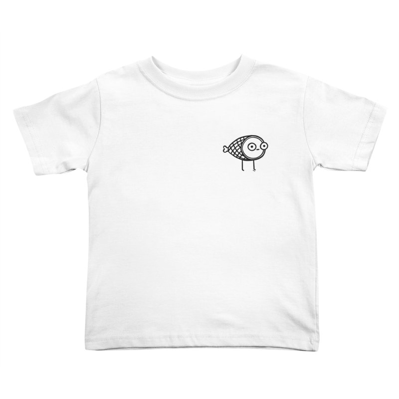 THE MINIMAL HAM in Kids Toddler T-Shirt White by BB TAMAGOTCHI
