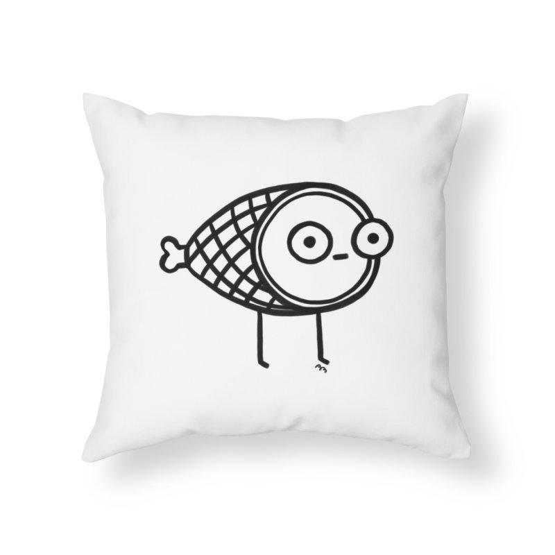 THE MINIMAL HAM Home Throw Pillow by RACHEL AURIEMMA
