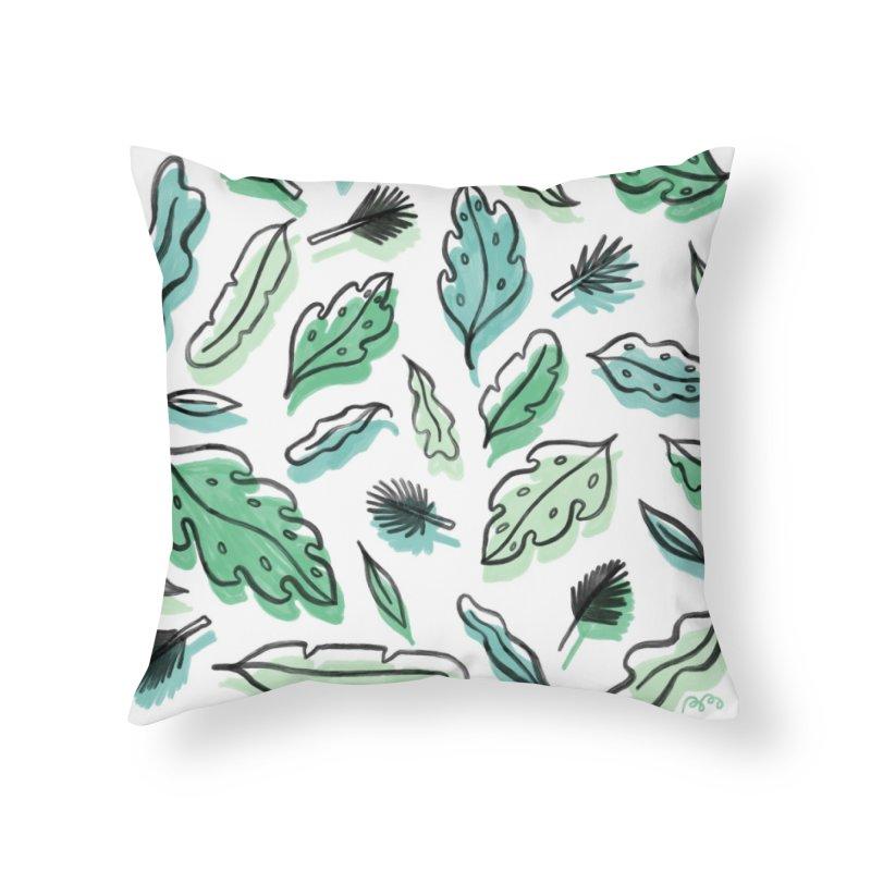 PLANTIN' Home Throw Pillow by BB TAMAGOTCHI